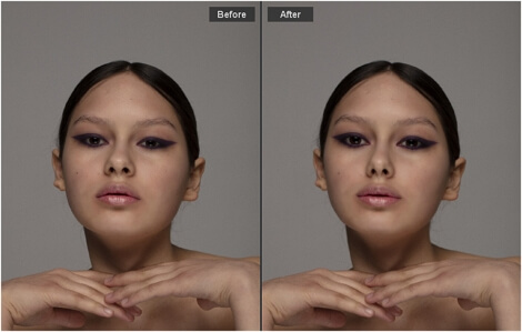 Tweak the facial features with a few slider drags