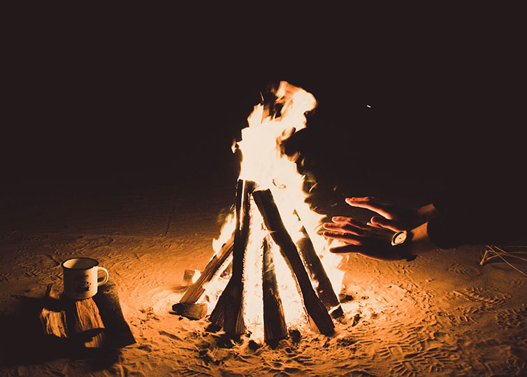 Take a photo of bonfire