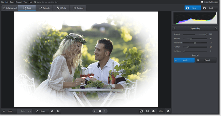 Blur the edges of your photo to your taste