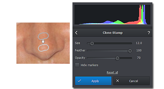 Remove glare from your portraits with Clone Stamp
